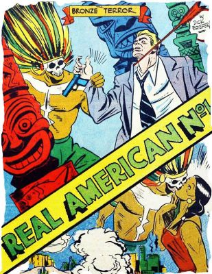 "'Real American No.1"" by Dick Briefer & L.L. Hundal, contains comics and RPG rules for ROLF!"
